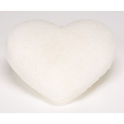 Konjac Cleansing Sponge heart shaped