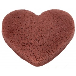 Konjac Sponge for Dry & Sensitive Skin heart shaped