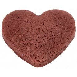 Éponge Konjac Peaux sèches et sensibles Coeur